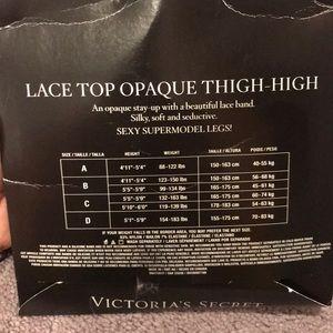 Victoria's Secret Intimates & Sleepwear - Victoria Secret Lace Top Opaque thigh-high